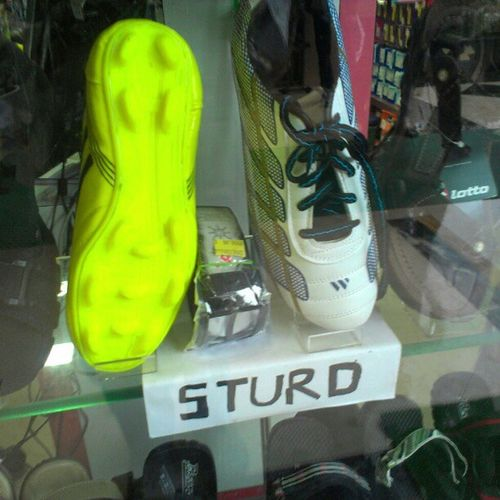 DUMBASS Wrongspelling Football Shoes soccer studs incredibleindia onlyinindia india shoe studs sturds lmfao rofl lol