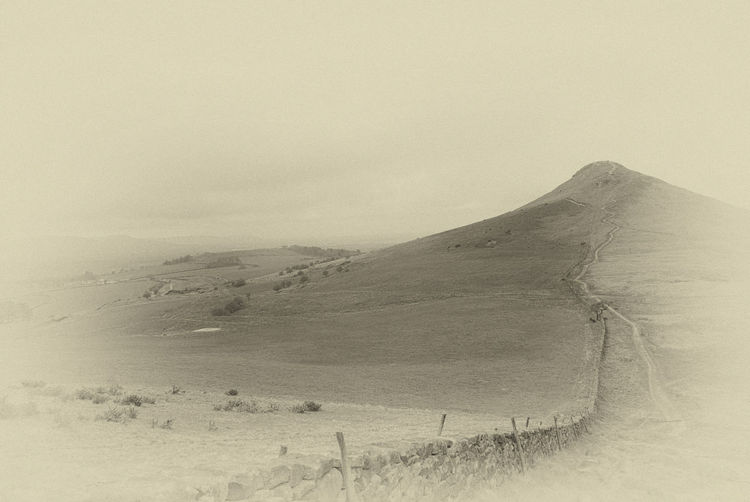 Old Photo Roseberry Topping Yorkshire Beauty In Nature Landscape Mountain Nature Scenics Sepia Photography Tranquil Scene Tranquility