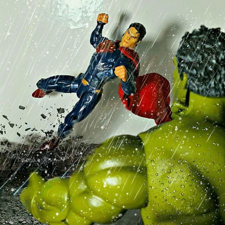 THE CROSSOVER Toys Action Figures Toy Photography Manofsteel Hulk Superman Marvelmovies DC Toygallery