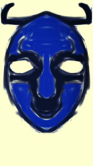 My new goat mask; just the rough sketch though. Painted Mask Potato