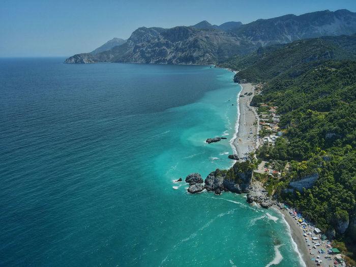 Chiliadou beach, evia, greece