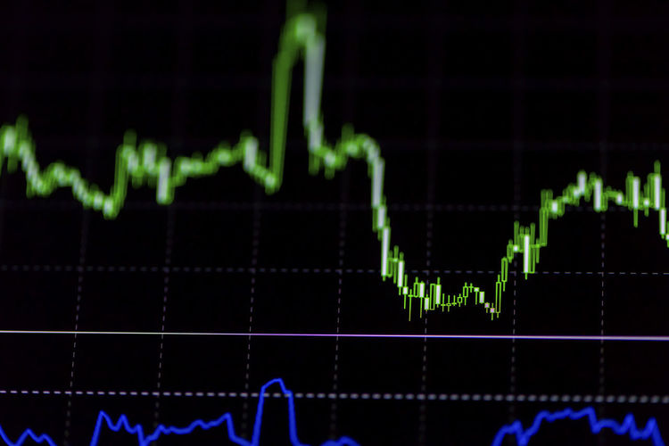 Business Chart Close-up Data Digital Display Finance Financial Figures Graph Growth Indoors  Instrument Of Measurement Liquid-crystal Display No People Pulse Trace Report Stock Market And Exchange Technology
