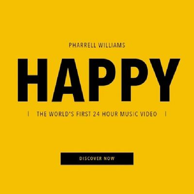 Go to 24hoursofhappy.com to watch TheWorldsFirst24HourMusicVideo by Pharrellwilliams or go to the YouTube account @ IamOTHER and they have every hour starting from 12am