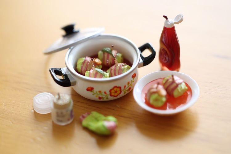 Cooking Miniature ロールキャベツ ケチャップ つまようじ 洋食 ベーコン