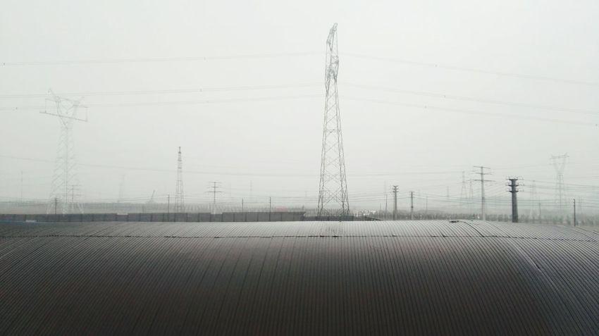 工厂和旷野 Electricity Pylon Technology Telephone Line Winter Electricity  Cold Temperature Fuel And Power Generation Cable Rural Scene Power Supply