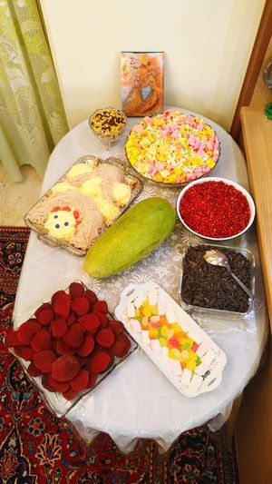 We celebrate the longest night of the year in Iran every year wich called Yalda. Families and friends gather for celebrate and the host serve fruits and pastries. Pastries YALDA NIGHT Celebration Event Celebrating Joy Of Life Family Time Yammy :) Hafez