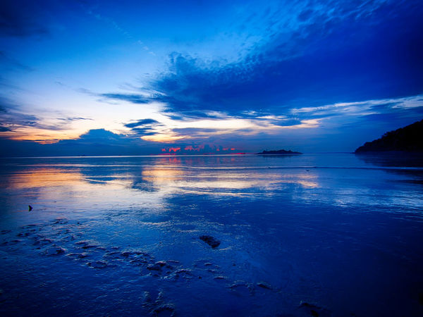 Low Tide, Dry River Bed Beach Beauty In Nature Blue Cloud - Sky Day Horizon Over Water Idyllic Low Tide Nature No People Outdoors Reflection Scenics Sea Sky Sunset Tranquil Scene Tranquility Water Waterfront