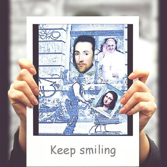 Gioconda Monalisa_gallary Papá Francesco America Selfie ✌ EyeEm Ercarrello Nel Blu Dipinto Di Blu. Catanzaro #Italy