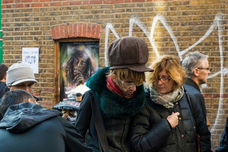 A legend and a fraud London Bricklane Streetphotography Street Candid RASTA Dreads Bobmarley