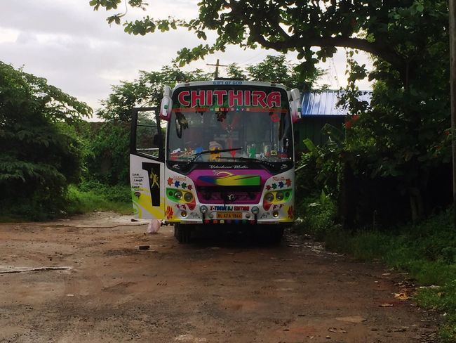 Bus Colorful Growth Text Tree Day Outdoors No People Kerala