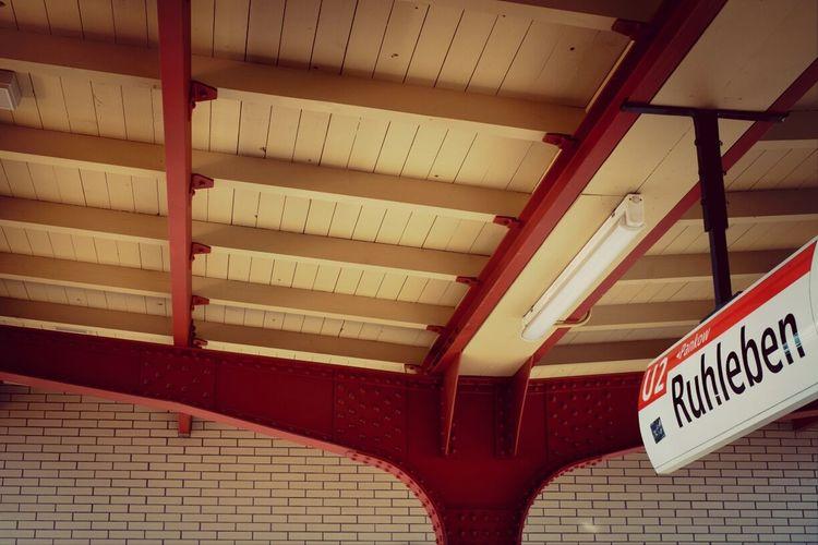 U2 Berlin Subway Station Signage
