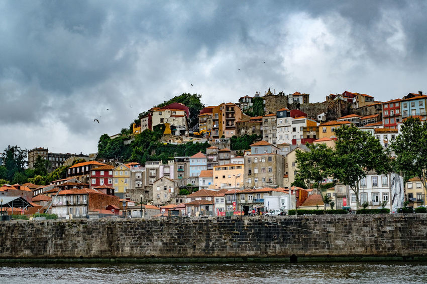 Architecture Building Exterior Built Structure Cloud - Sky Residential District Sky City Building Water Nature River Town Waterfront No People House Day Outdoors Overcast Cityscape TOWNSCAPE Riverside River Douro