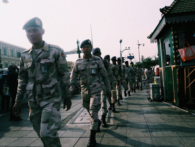 Military Army Soldier Conflict War Military Uniform Army Men Uniform Person Police Force Adult Horizontal People Camouflage Clothing Armed Forces City Military Parade Outdoors Togetherness Day