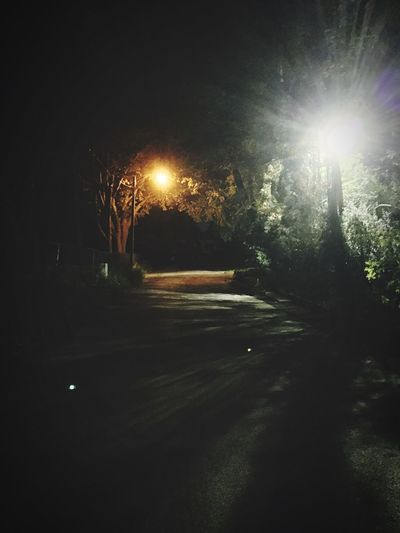 Orb Long Walk Road Eerie Orbs Lights Lightpole Street Culdesac Trees Nightphotography Evening Ghost Check This Out Spirits Spirit Spiritual Looks Like...