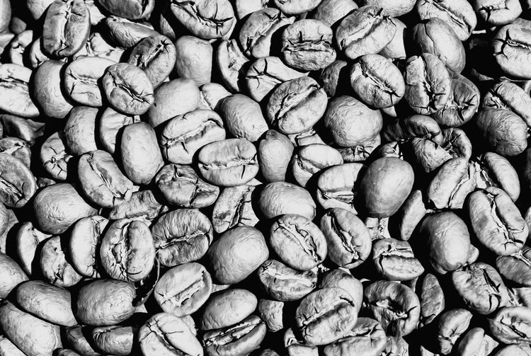 Coffee Beans Black & White Close-up