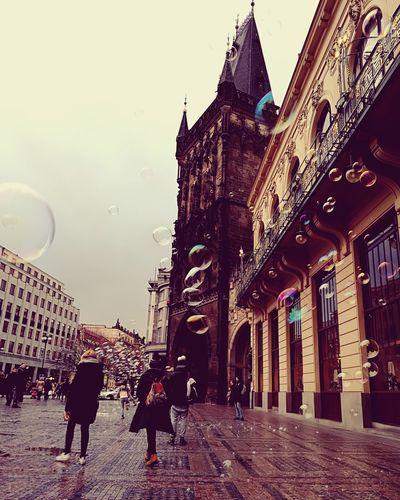 Prague Czech Republic Czech Republic Prague♡ Piazza Praga Prague Bubbles Rain Rainy Days