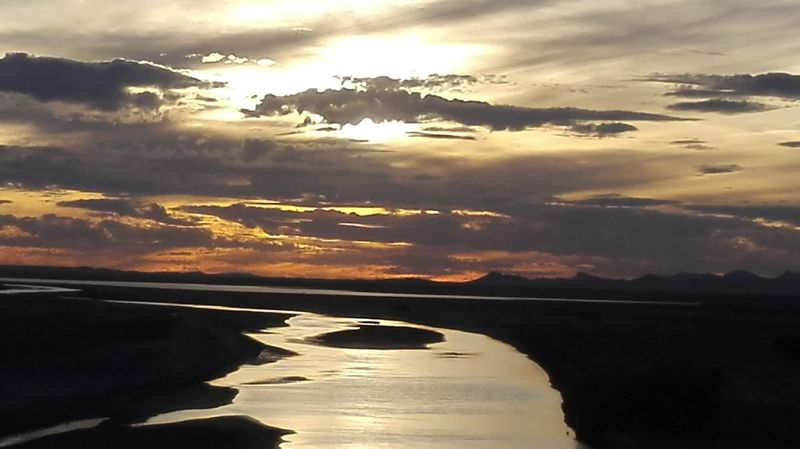 South Africa Bethulie. Dam. Water. Sunset Water Scenics Sunset Tranquil Scene Tranquility Cloud - Sky Reflection Beauty In Nature Cloud Sky Sunbeam Dramatic Landscape Dam Free State Beauty In Nature