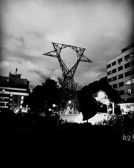 Black And White Friday Electric Transmission Tower.