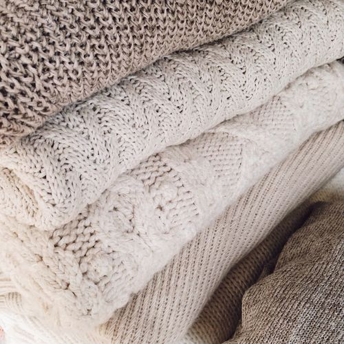 Cozy Pattern Textured  Textures And Surfaces Indoors  Closet Wool Cotton Cashmere Winter Crème