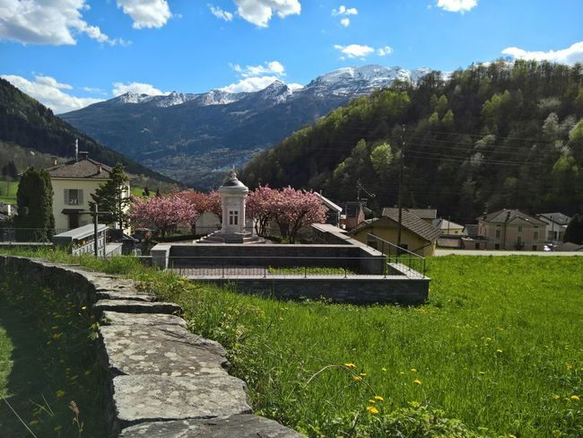 Switzerland Swiss Alps Swiss Mountains Ticino Valle Di Blenio Dangio Torre Cemetery Last Resting Place Craft Place Of Worship Spirituality Religion Religious Architecture Religious Art Architecture Built Structure Landscape Sky And Clouds Tranquil Scene Tranquility The Great Outdoors With Adobe