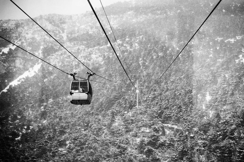 View of mountain cable car