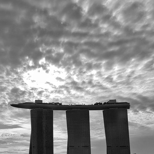 Marina Bay Silhouette Low Angle View Architecture Cloud - Sky No People Sky Outdoors Nature Day Singapore Marinabaysands