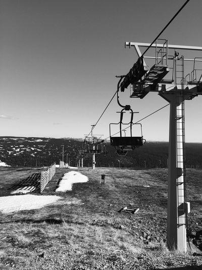 Lapland, Finland EyeEmNewHere Saariselkä, Finland Black And White Blackandwhite Photography Black & White Blackandwhite Landscape No People Outdoors Ski Lift Summer Skiing Resort