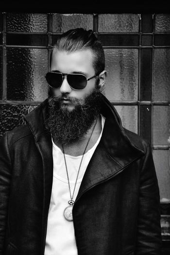 Monochrome Photography Close-up Sunglasses One Person London Beard Bearded Fashion Shoreditch Manbun First Eyeem Photo
