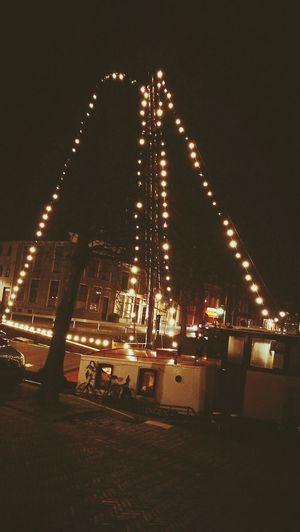 Harlingen, Netherlands Netherlands Water Illuminated Night Canal Boat