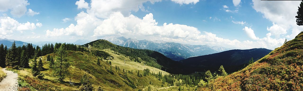 Planai Austria Hiking EyeEm Selects Mountain Scenics - Nature Sky Cloud - Sky Beauty In Nature Stay Out Panoramic Environment Mountain Range Nature Tranquil Scene Tranquility Non-urban Scene No People Tree Landscape Stay Out