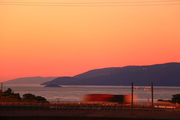 Sunrise Sunrise Colors Landscape Mountain Sea Horizon Over Water Greece Photos Corinth Canal Bridge View Corinth Greece Corinth Bridge Colorful Tranquil Scene Backgrounds Sea Colors  Nature Travel Destinations Greece GREECE ♥♥ EyeEm Nature Lover Beauty Beauty In Nature No People Week On Eyeem Vacations