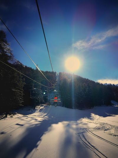 France Lesorres Snow Travel Nature Winter Sunset Outdoors Beauty In Nature Sky Mountains Skiing Snowboarding Sun Sunshine Chairlift Ropeway Forest EyeEmNewHere