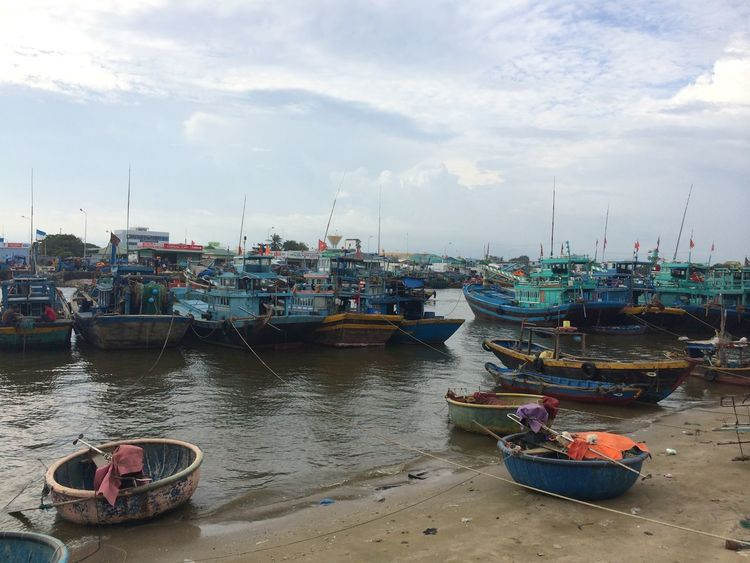 Boats Fishing Boats Fishing Village Phan Thiet Vietnam Traveling