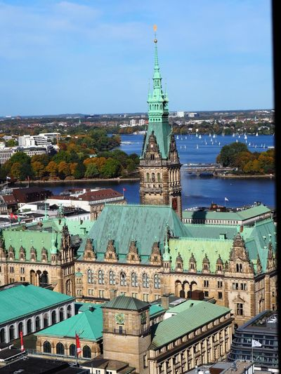 Hamburg Alster River River Parliament Building Townhall Hamburg Germany🇩🇪 Architecture Building Exterior Built Structure Building Sky City Tower Water Cityscape Outdoors Day