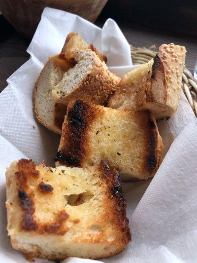 Bread basket ready to eat