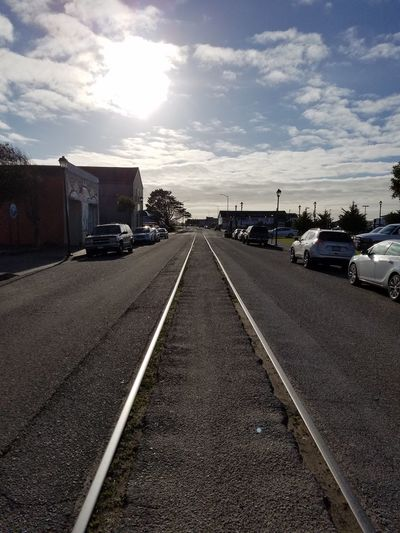 Old Railroad Tracks Use To Be Old Town Eureka CA