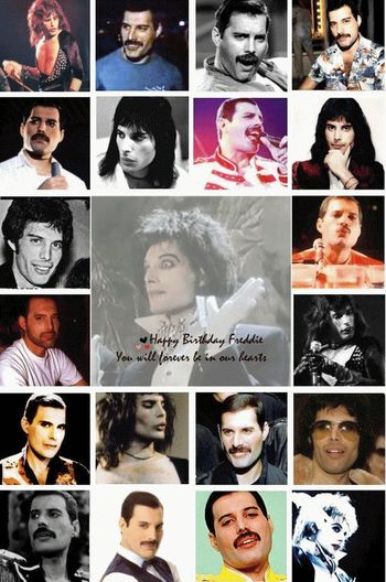 5 sep naciò el gran Freddie MercuryMultiple Image Happy Birthday! Queen👑 Greatartist Human Body Part Mylove ❤️ Freddie Mercury