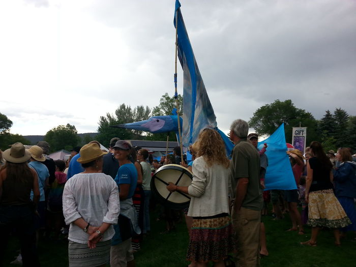 "Where Do You Swarm? Mountain Fair ""Wild at Heart"" the drum circle opening"