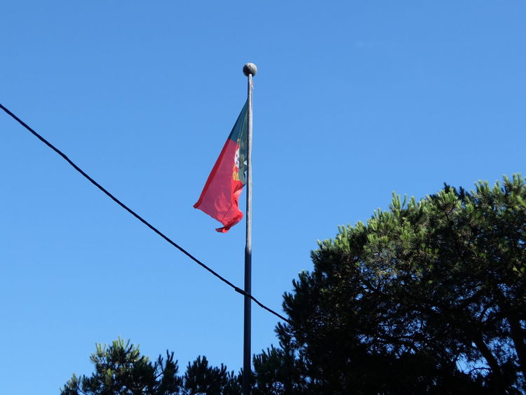 Euro 2016 Flag Fooball Green & Red No People Porto Portugal
