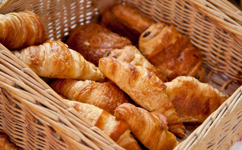 Fresh made french croissants Baked Baked Goods Breakfast Croissant Croissant For Breakfast Croissants Food Food Photography French Food Nutrition Typical France