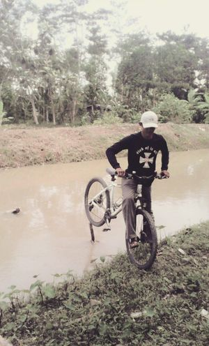 Me & My bicycle That's Me My Bicycle cross the river Cross The River Kuninganjabar