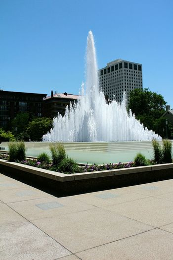 Temple Square fountain in Downtown Salt Lake City! So Beautiful! Fountain Outdoors Clear Sky Beauty In Nature Salt Lake City, Utah Downtown Temple Square Sightseing Tourist Attraction  Tourism