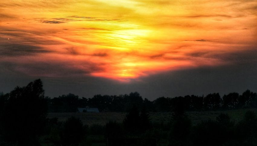 Sunset in Mazury Poland Summer Sky And Clouds Nature Photography Sunset And Clouds  Sky Clouds Sundown EyeEm Best Shots Eyem Best Edits Poland Is Beautiful Summer Time  Summer2016 Colours Of Sunset