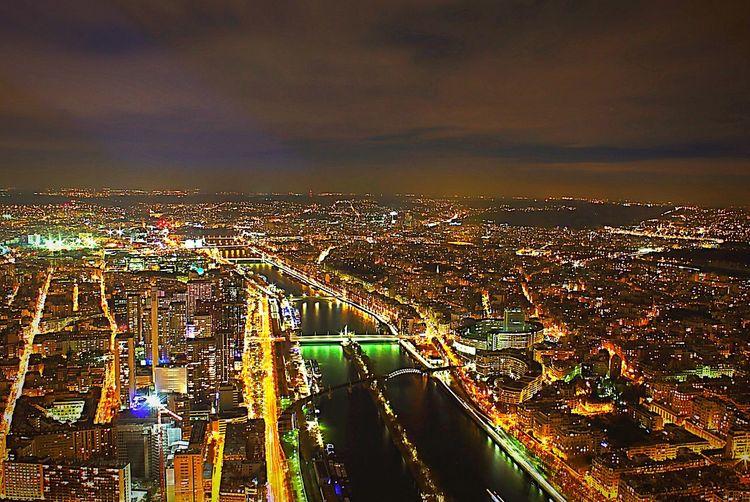 Paris France Europe Night Lights Wide Angle Landscape Urban Long Exposure