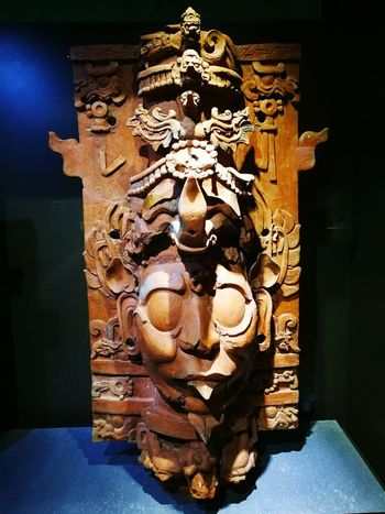 EyeEm Selects Religion Spirituality Place Of Worship Statue Travel Destinations Business Finance And Industry Sculpture No People Indoors  Architecture Day Palenque Mayanculture Mayan Wonders Mayan Incensary Mayan Mask Mayan Museum Maya Incensario Incienso  Jungle