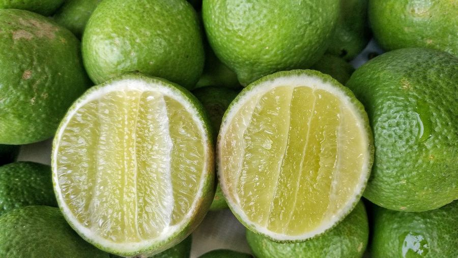 Sour Taste Backgrounds Close-up Freshness Healthy Eating Fruit Food And Drink Green Color Full Frame No People Indoors  Food Lime Day