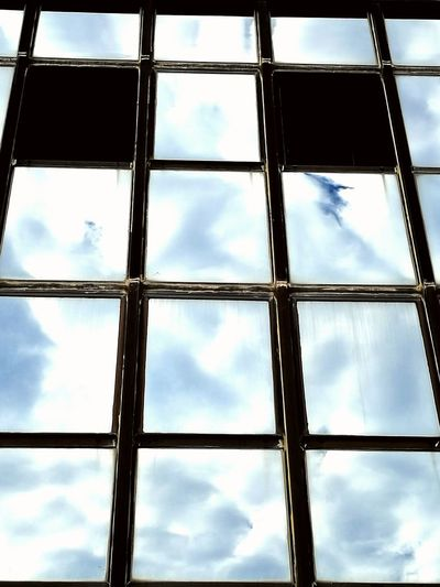 Architecture Low Angle View Reflection Window Sky Geometric Shape No People Office Building Office Block Glass - Material