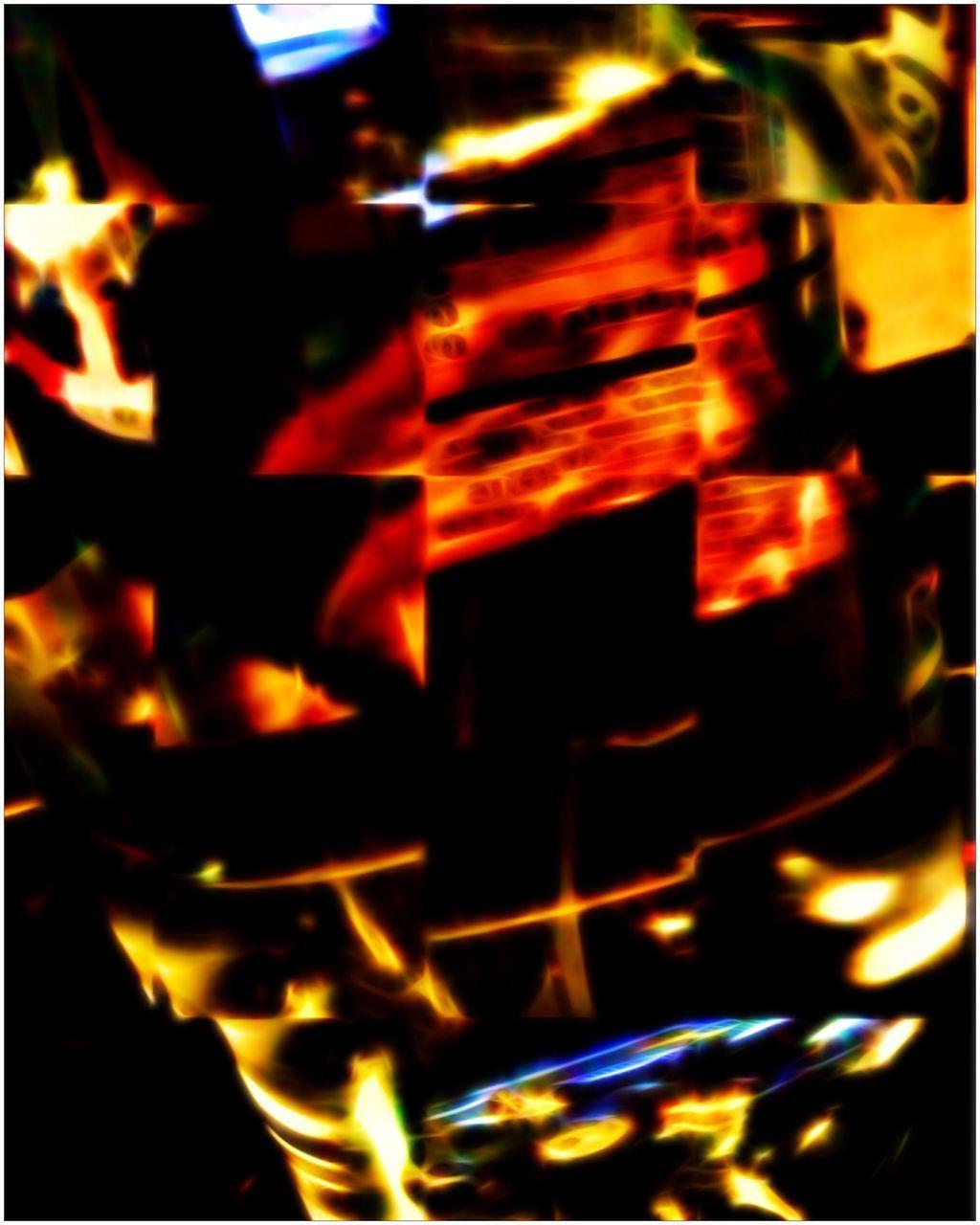 flame, burning, heat - temperature, glowing, night, close-up, illuminated, indoors, no people, motion
