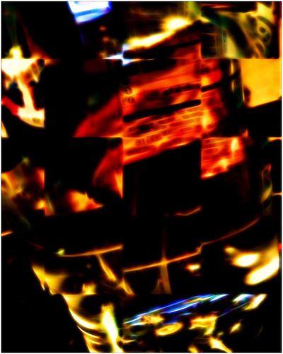 Bottled Water Light And Dark Digital Art Reflection Red Still Life Abstract Water Ripple Sliced