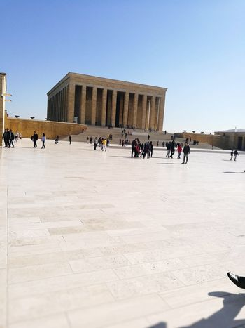 Anıtkabir Anıt Atatürk Architecture Tourism City Travel Destinations Large Group Of People Built Structure Mammal People Domestic Animals Outdoors Day Sky City Adult Politics And Government Adults Only